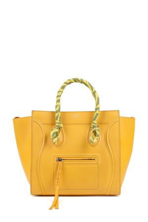 Celine Medium Phantom Yellow with Handle Wraps