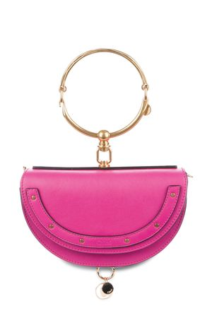 Chloe Small Nile Minaudiere Bracelet Bag Fuchsia Rose