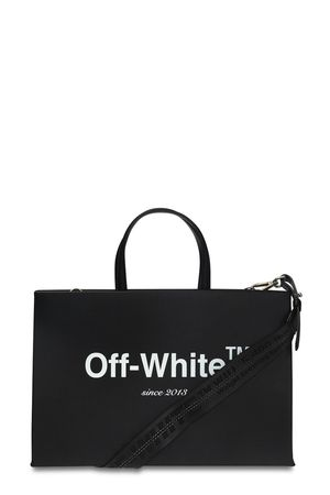 Off-White Printed Box Bag Black