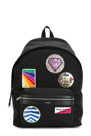 Saint Laurent City Multi Patch Backpack