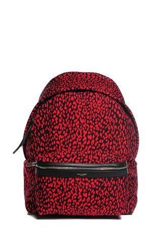 Saint Laurent Classic Hunter Backpack Red Leopard
