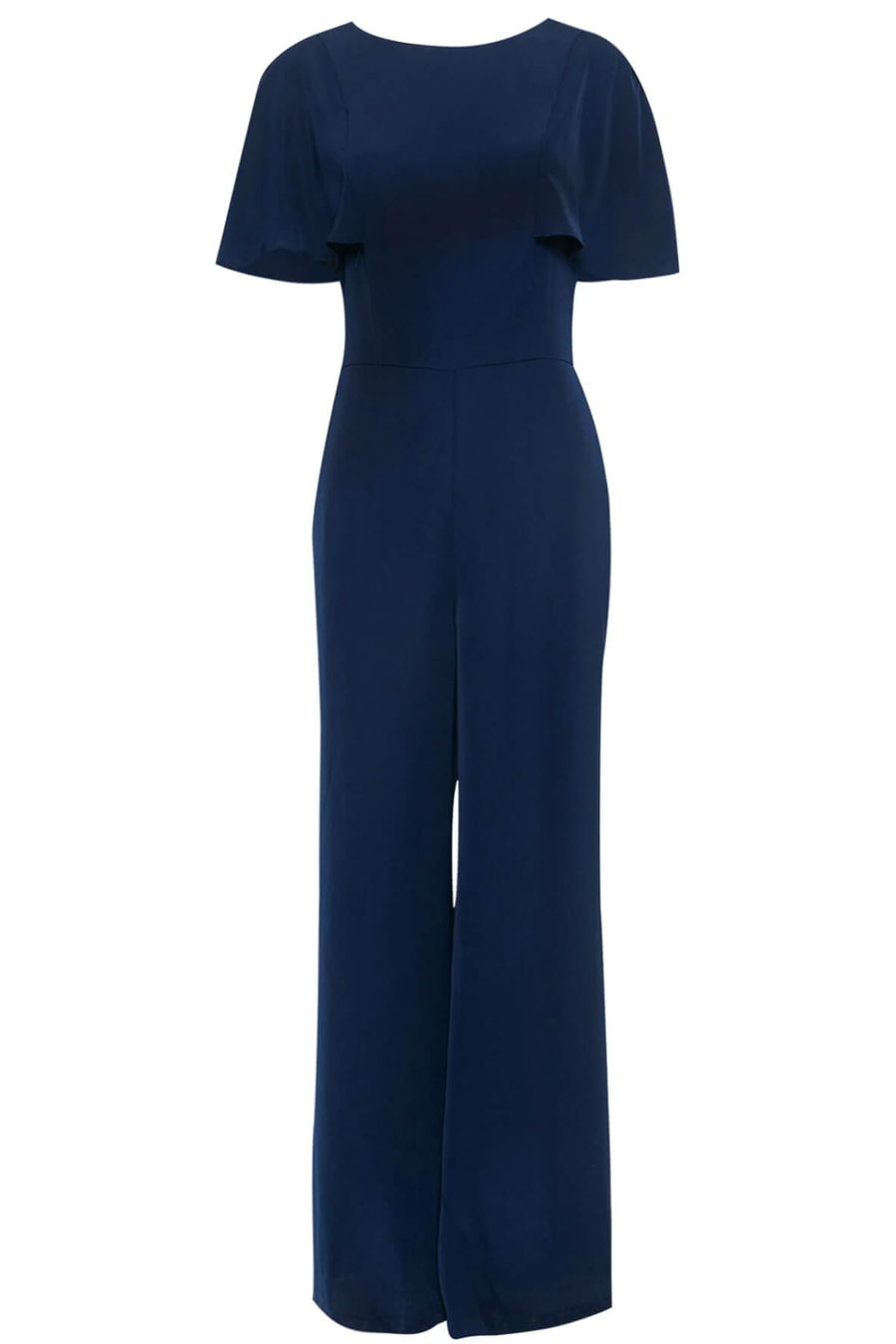 Arabelle Woven Flutter Sleeve Jumpsuit by Adelyn Rae - Style Theory